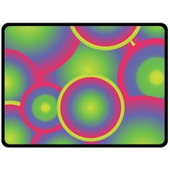 Background Colourful Circles Double Sided Fleece Blanket (large)  by Nexatart