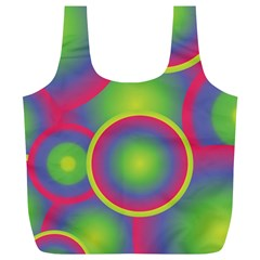 Background Colourful Circles Full Print Recycle Bags (l)