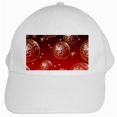 Background Red Blow Balls Deco White Cap by Nexatart