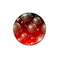 Background Red Blow Balls Deco Hat Clip Ball Marker (10 Pack)