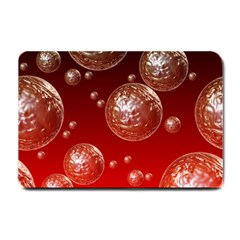 Background Red Blow Balls Deco Small Doormat