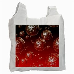 Background Red Blow Balls Deco Recycle Bag (two Side)  by Nexatart