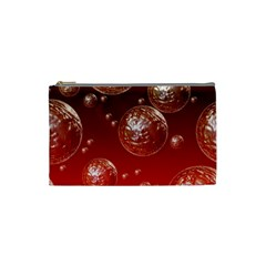 Background Red Blow Balls Deco Cosmetic Bag (Small)