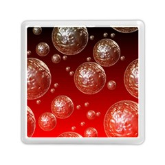 Background Red Blow Balls Deco Memory Card Reader (square)  by Nexatart
