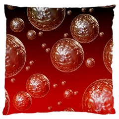 Background Red Blow Balls Deco Large Cushion Case (one Side)
