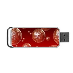 Background Red Blow Balls Deco Portable Usb Flash (one Side)