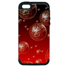 Background Red Blow Balls Deco Apple Iphone 5 Hardshell Case (pc+silicone)