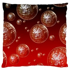 Background Red Blow Balls Deco Standard Flano Cushion Case (one Side)