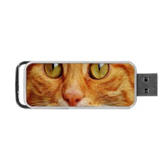 Cat Red Cute Mackerel Tiger Sweet Portable Usb Flash (one Side) by Nexatart