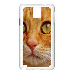 Cat Red Cute Mackerel Tiger Sweet Samsung Galaxy Note 3 N9005 Case (white)