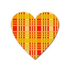Check Pattern Heart Magnet by Nexatart