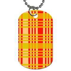 Check Pattern Dog Tag (two Sides) by Nexatart