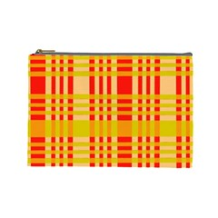 Check Pattern Cosmetic Bag (large)  by Nexatart