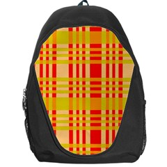 Check Pattern Backpack Bag by Nexatart