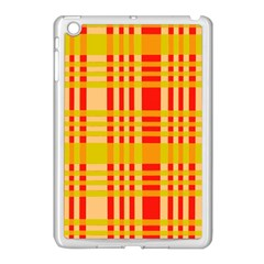 Check Pattern Apple Ipad Mini Case (white)