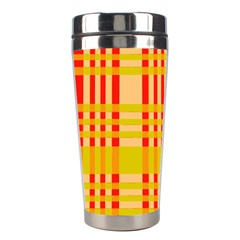 Check Pattern Stainless Steel Travel Tumblers by Nexatart