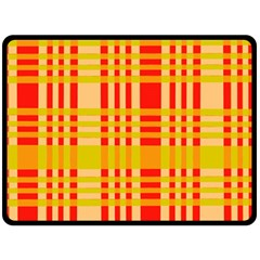 Check Pattern Double Sided Fleece Blanket (large)  by Nexatart