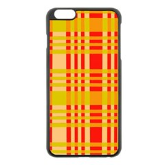 Check Pattern Apple Iphone 6 Plus/6s Plus Black Enamel Case by Nexatart