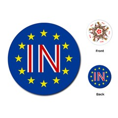 Britain Eu Remain Playing Cards (round)