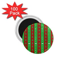 Christmas Tree Background 1 75  Magnets (100 Pack)  by Nexatart
