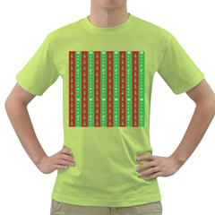 Christmas Tree Background Green T Shirt