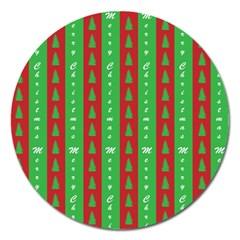 Christmas Tree Background Magnet 5  (round) by Nexatart