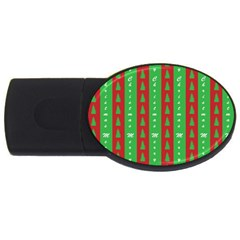Christmas Tree Background Usb Flash Drive Oval (4 Gb) by Nexatart