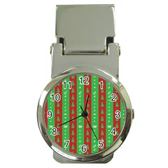 Christmas Tree Background Money Clip Watches by Nexatart