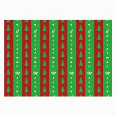 Christmas Tree Background Large Glasses Cloth (2-Side)