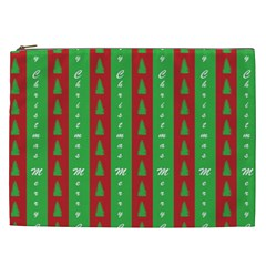 Christmas Tree Background Cosmetic Bag (xxl)  by Nexatart