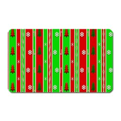 Christmas Paper Pattern Magnet (rectangular) by Nexatart