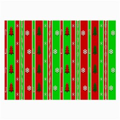 Christmas Paper Pattern Large Glasses Cloth by Nexatart