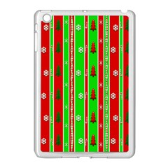 Christmas Paper Pattern Apple Ipad Mini Case (white) by Nexatart