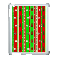 Christmas Paper Pattern Apple Ipad 3/4 Case (white) by Nexatart