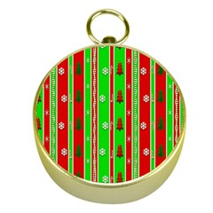 Christmas Paper Pattern Gold Compasses