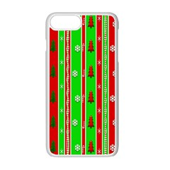 Christmas Paper Pattern Apple Iphone 7 Plus White Seamless Case by Nexatart