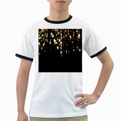 Christmas Star Advent Background Ringer T Shirts