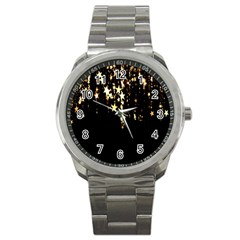 Christmas Star Advent Background Sport Metal Watch by Nexatart
