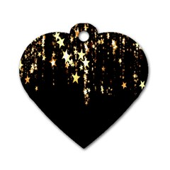 Christmas Star Advent Background Dog Tag Heart (two Sides) by Nexatart