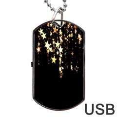 Christmas Star Advent Background Dog Tag Usb Flash (one Side)