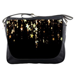 Christmas Star Advent Background Messenger Bags