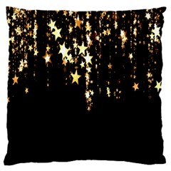 Christmas Star Advent Background Large Flano Cushion Case (one Side) by Nexatart