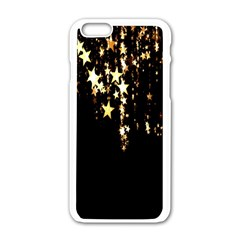 Christmas Star Advent Background Apple Iphone 6/6s White Enamel Case by Nexatart