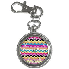 Chevrons Pattern Art Background Key Chain Watches