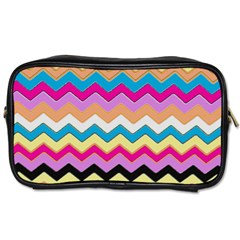Chevrons Pattern Art Background Toiletries Bags