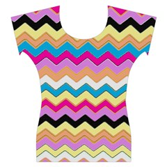 Chevrons Pattern Art Background Women s Cap Sleeve Top