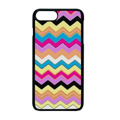 Chevrons Pattern Art Background Apple iPhone 7 Plus Seamless Case (Black)