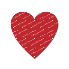 Christmas Paper Background Greeting Heart Magnet by Nexatart