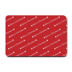 Christmas Paper Background Greeting Small Doormat