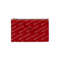 Christmas Paper Background Greeting Cosmetic Bag (small)
